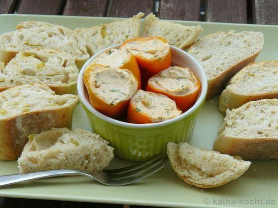 Tapas - Mini-Paprika mit pikanter Ziegenkäsecréme - Katha-kocht!