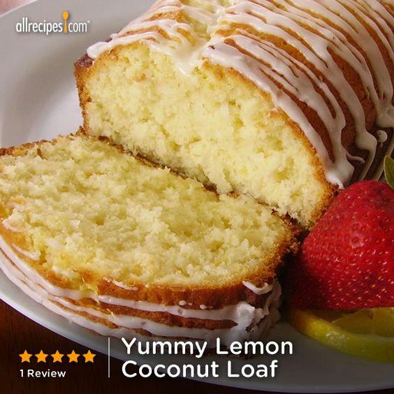 Yummy Lemon Coconut Loaf | The sweet/tart lemon glaze really puts it over the top.