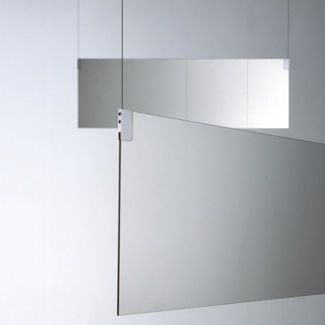 Agape insegna ceiling suspended double sided mirrors for Different sized mirrors