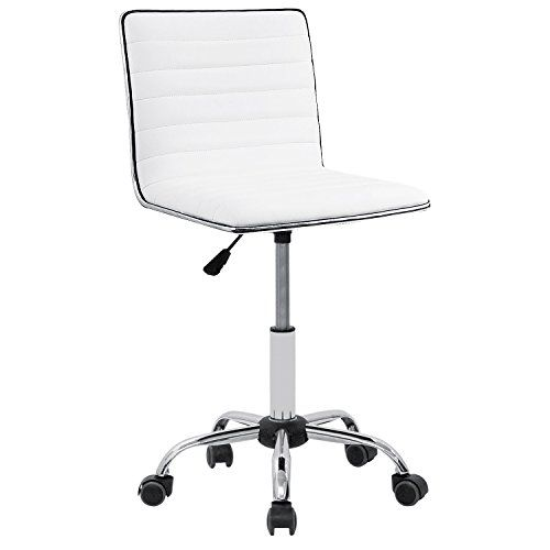 Furmax Mid Back Task Chair Low Back Leather Swivel Office Desk