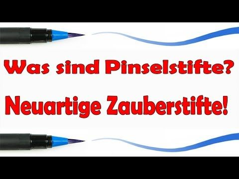 Pinselstifte Anwendung Brush Pens Ubergange Malen