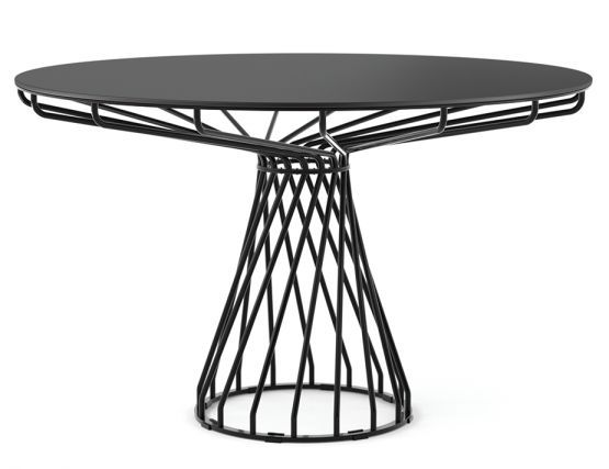 At Huset Furniture You Will Find Modern Outdoor Dining Tables Like The Black Wire Dining Table Of Dining Table Round Outdoor Dining Table Outdoor Dining Table