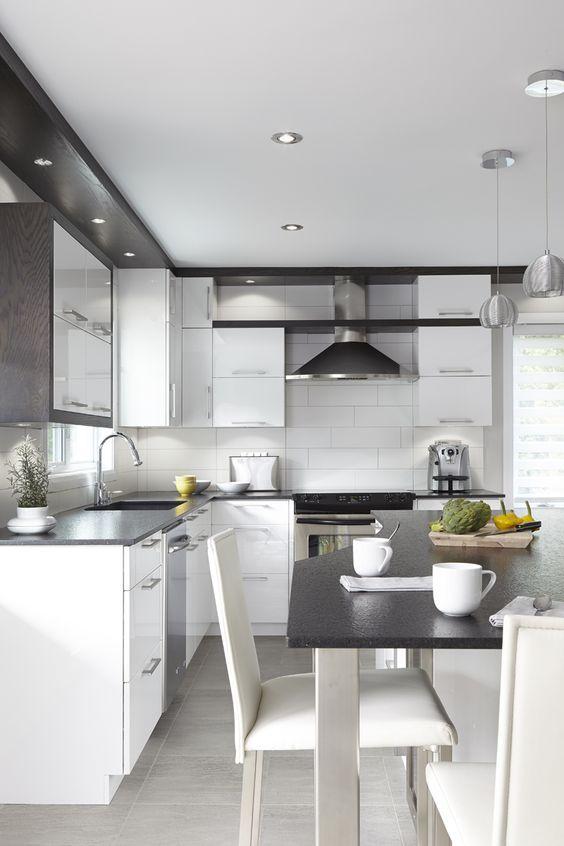 Projet de rénovation de cuisine. Armoires de cuisine de style ...