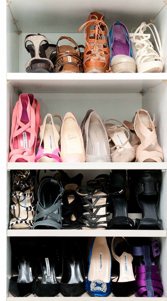 Shoes on shoes on shoes. www.thecoveteur.com/marina_larroude