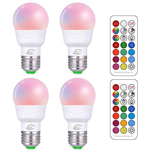 Ilc Rgb Led Light Bulb Color Changing Light Bulb Dimmable 3w E26