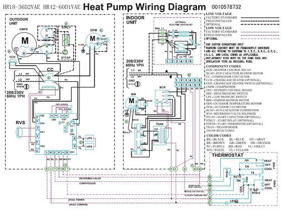 Trane Heat Pump Wiring Diagram:  Heat pump compressor Fan wiring ,Design