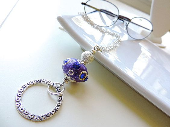 Silver Eyeglass Lanyard  Purple Passion  by EyeglassLanyards, $16.99  Visit my Etsy Store https://www.etsy.com/shop/EyeglassLanyards