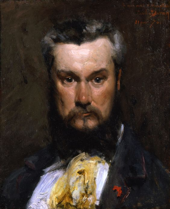 vcrfl:    Carolus-Duran, Portrait of Hector Hanoteau, 1870.   Inscribed À mon ami H. Hanoteau, Carolus Duran, 21 juin 70
