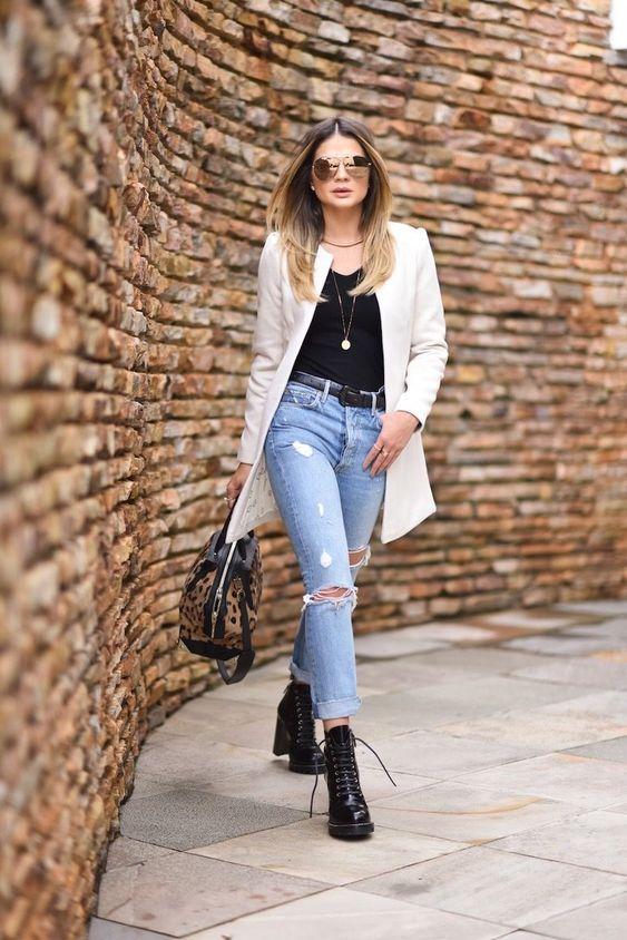 Look com coturno elegante e moderno