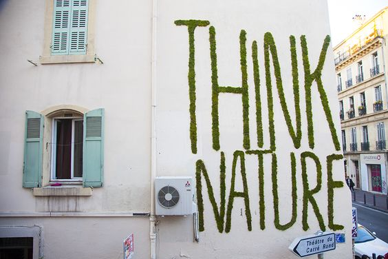 """""""Think Nature"""" Typography Vegetal on Behance"""