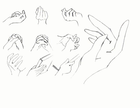 anime  poses  | Random hand poses by ~homonculus1568 on deviantART