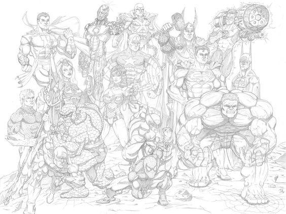 Marvel/DC Icons Unite by organicSTEEL on DeviantArt