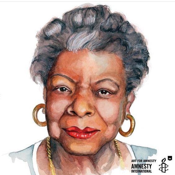 The glorious Maya Angelou for @artforamnestyus by tracyhetzel