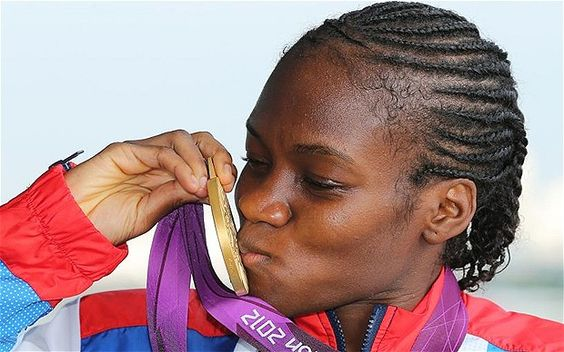 Trail blazer: Flyweight Nicola Adams made history by becoming the first-ever women's boxing gold medallist.