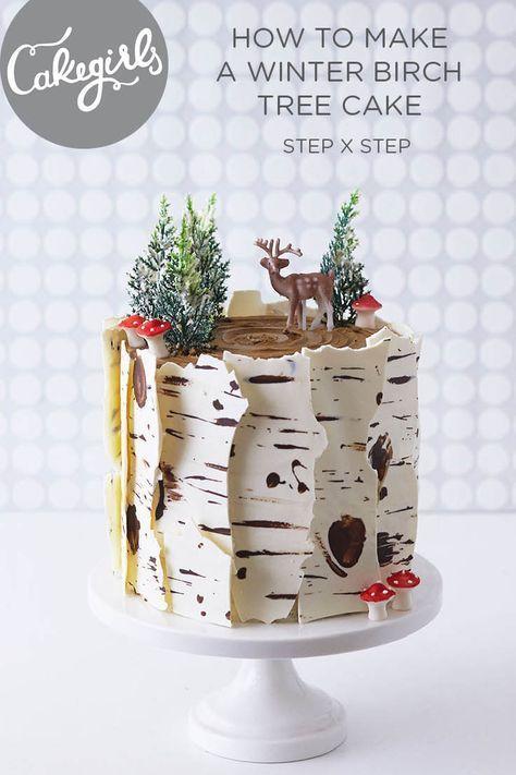 How To Make A Winter Birch Tree Cake Dessert Noel Noel Cuisine Et Gateau Noel