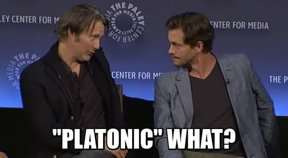 "Mads Mikkelsen & Hugh Dancy: ""'Platonic' what?"" 