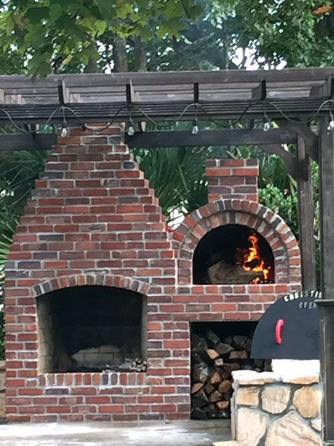 Fire Place Design Concepts For An Elegant Exterior Space Homes Tre Brick Pizza Oven Outdoor Brick Pizza Oven Outdoor Fireplace Patio