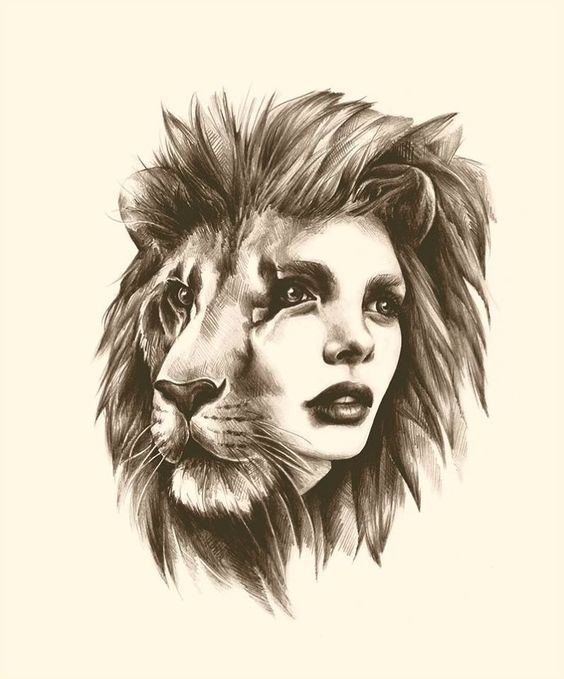 Beautiful Lioness Leo Lion Tattoos Signed Art Prints Zodiac Art