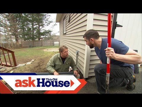 277 How To Install A Channel Drain Ask This Old House Youtube In 2020 Old Houses Old House Landscape Contractor