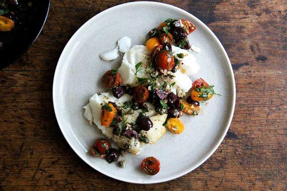 Fish with Sauce Niçoise recipe on Food52