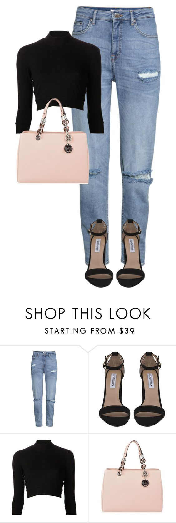 """Untitled #1671"" by gracerosborough ❤ liked on Polyvore featuring H&M, Steve Madden, Again and MICHAEL Michael Kors"