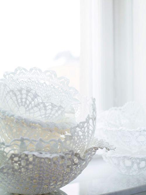 doily bowls: