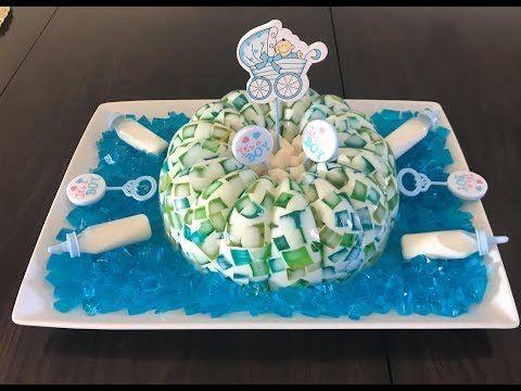 Galatina Para Baby Shower De Niño Gelatina De Mosaico Youtube Gelatinas Gelatina De Mosaico Postres Con Gelatina