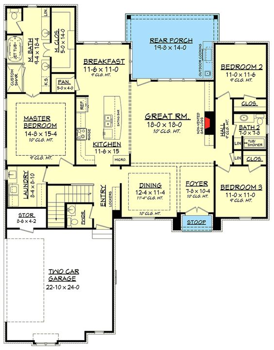 Plan 51734hz 3 bed acadian with bonus over the garage Acadian floor plans