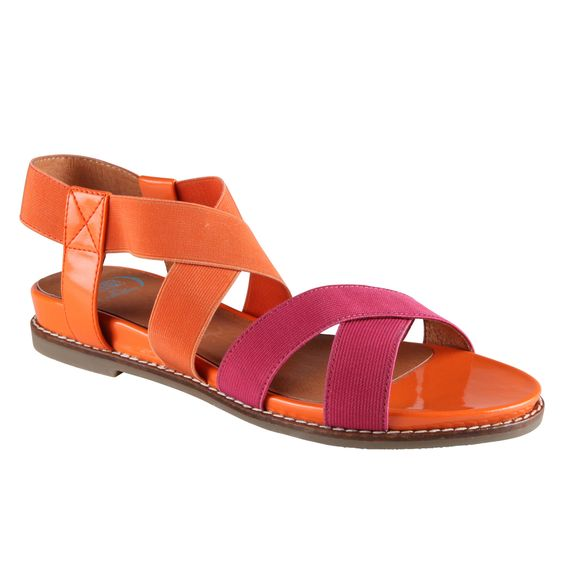 More colour block sandals!