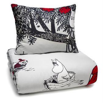 Moomin Journey bed linen - duvet cover+pillow case - Finlayson