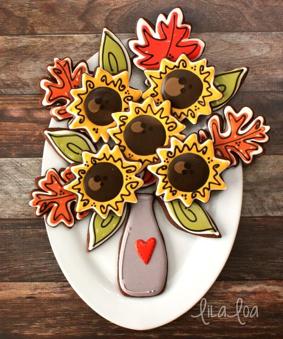 Quick and easy decorated scribble sunflowers for fall!!