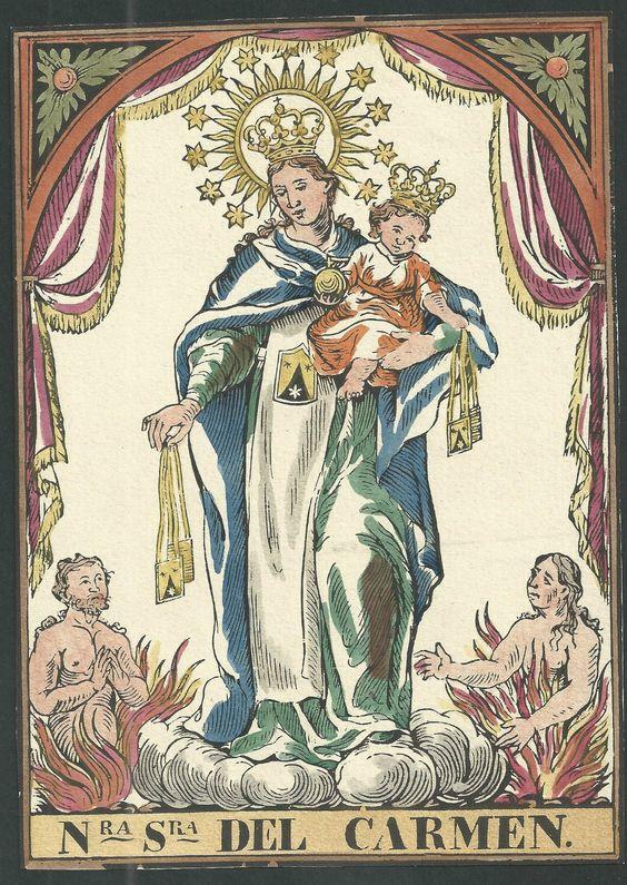Grabado  DE LA Virgen DEL Carmen