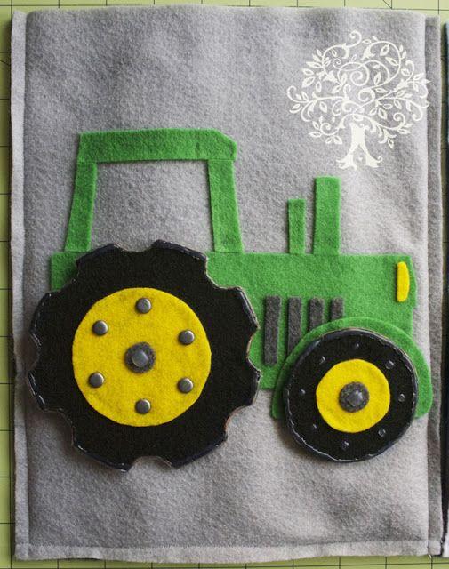 Tractor Quiet Book Page