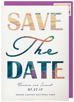 Grand Canyon Save the Date in Purple