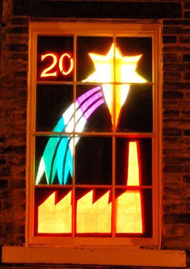 Living Advent Calendar Ideas : Saltaire living advent windows star adventsfenster
