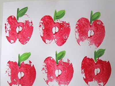 Apple stamp craft