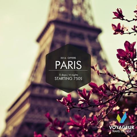Book your Valentine's #getaway at the most #romantic city in the world! Spend 5D/4N in Paris starting 750$ only  Call us on 01-202502 or email us at: info@voyageurtl.com #VoyageurTL #Voyageur #TravelAgency #Paris #Valentine #valentineday #romanticnight #city #travel #traveling #offer #dontmissit by voyageurtl