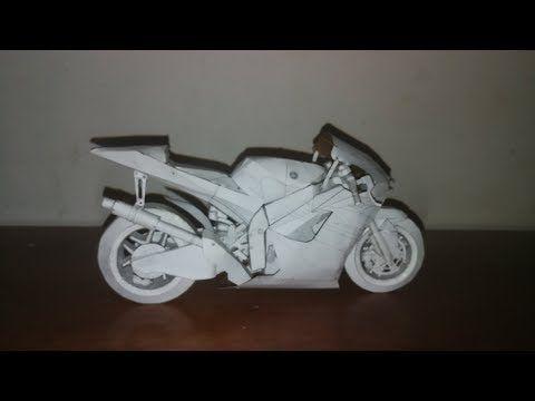 Como hacer una moto yamaha M1 de carton paso a paso [how to