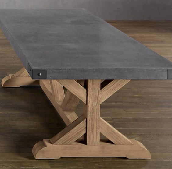 Faux Concrete Table Top Furniture Pinterest Tables Concrete Table And Tops