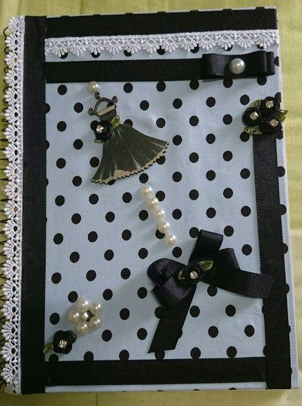 Caderno vestido