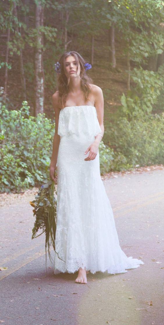 Suknie slubne w stylu boho 2016 / Boho wedding dresses #boho #style #chic #wedding #dress #bride