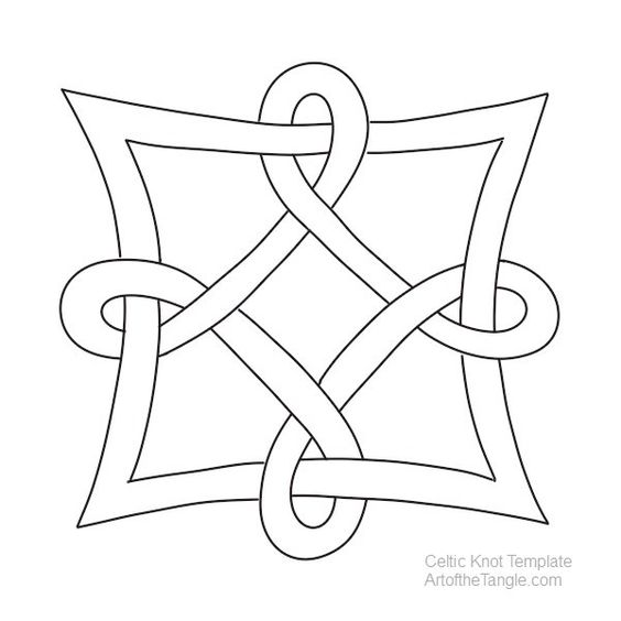 Celtic Knot Templates Celtic knots, Knots and Celtic - free form templates