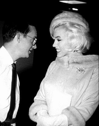 """Marilyn Monroe & Wally Cox on the set of """"Something's Got To Give""""  - June 5, 1962"""