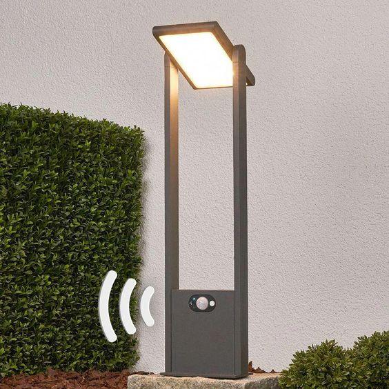 Borne lumineuse solaire Valerian LED Détecteur Capteur Lampe solaire - #ledlamp