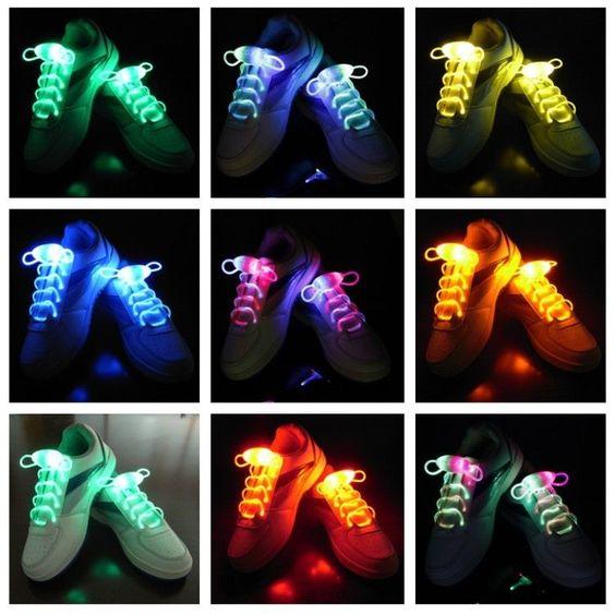 Cool Light Up Shoe Laces Glow Stick LED Shoes Shoelaces Dark Wedding Party DISCO