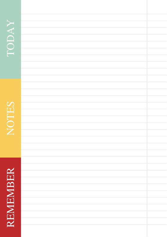 Free weekly planner template Cards  Invites Pinterest
