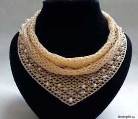 """beaded """"scarf necklace"""" - follow link to schema. #Seed #Bead #Tutorials"""