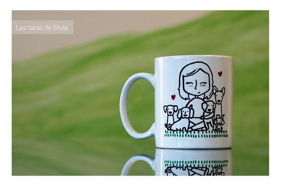 """Tazas personalizadas! Pintadas a mano por """"las tazas de silvia"""" #mug #taza #personalizada #regalo #original #perros"""