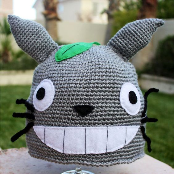 Totoro ish Hat  Totally Cool Kawaii Japanese by littlepopos, $32.00