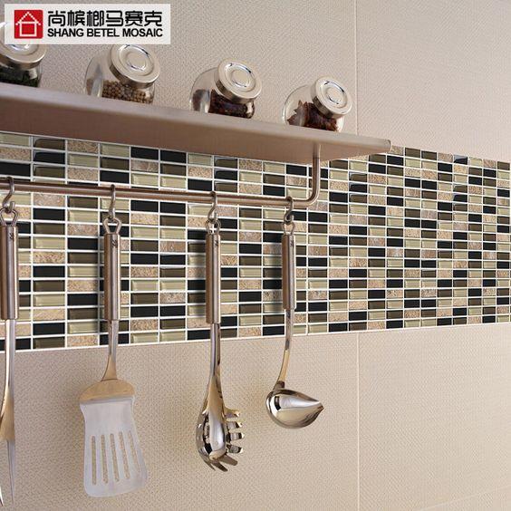 Caldo vendita 605 puzzle tv adesivi parete specchio mosaico di vetro di cristallo mosaici a - Specchio mosaico vetro ...